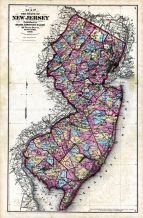 New Jersey State Map, Hunterdon County 1873